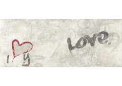 DECOR I LOVE YOU 20x50 PAREFEUILLE