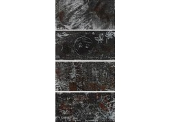 GRAFFITI NE MIX Décor mural 30x60 noir WORD UP