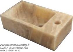 Lavabo mini rettangolo onice 36x20 h 10
