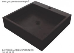 lavabo quadro basalto nero 50x50 h 12
