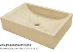 lavabo quadrato beige 50x35 h 12