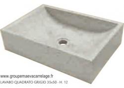 Lavabo quadrato grigio 35x50 h 12