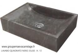 lavabo quadrato nero 50x35 h 12