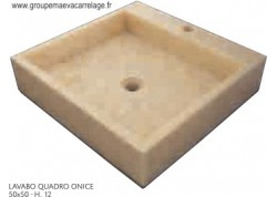 Lavabo quadro onice 50x50 h 12