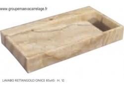 Lavabo rettangolo onice 85x45 h 12