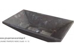 Vasque marbre trapeze nero 35x60 h15
