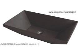 Vasque marbre trapeze basalto nero 35x60 h15