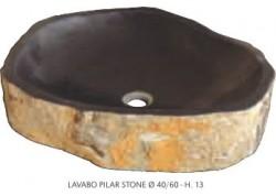 Vasque pierre pilar stone dia 40/60 h13
