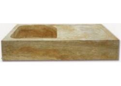 Evier travertin medium 90x60x18