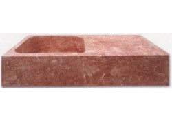 Evier travertin red 90x60x18