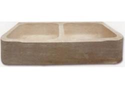 Evier travertin medium 90x46x18
