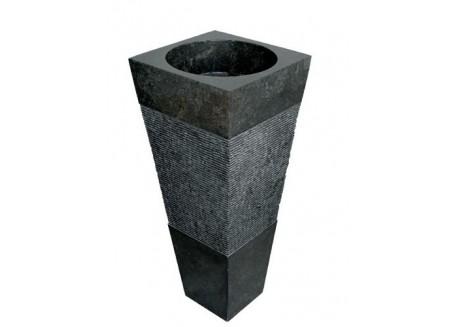 Lavabo Piramide Nero 40x40x90