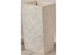 Lavabo Poliedro Cream Decorato 45x45x90