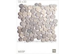 Galet pierre gris clair 33x33
