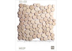 Galet pierre beige clair 33x33