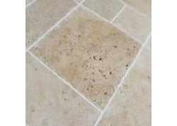 Travertin vieilli multiformat petit opus beige nuancé choix Terrasse Epaisseur 1,2cm