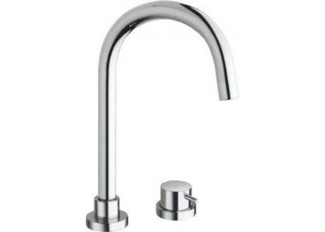 MITIGEUR LAVABO TRIVERDE 2 TROUS CHROME + vidage UP & DOWN TV 22451