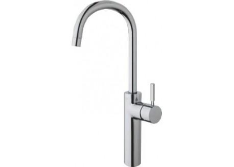 Grifo lavabo triverde alto pico 384 mm. croma + vaciado up&down TV 22951