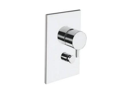 Grifo ducha triverde encajada 2 salidas con mecanismo croma TV 61951