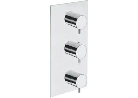 Grifo ducha encajada triverde termostático 3 salidas con mecanismo SV TV 83851