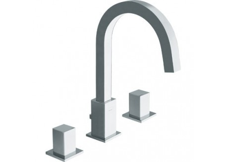 MELANGEUR LAVABO QUADRI 3 TROUS CHROME QD 20551