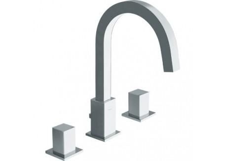 Mezclador lavabo quadri 3 agujeros croman cuando 20551