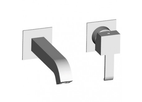 Grifo lavabo quadri mural 2 agujeros con mecanismo croma qm 27951