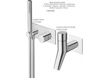Grifo baño ducha encaja rubinetto completo cromo Ru 10051