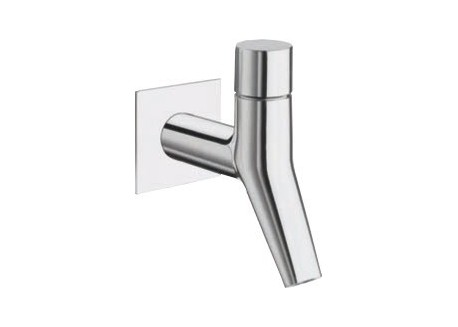 Grifo lavabo mural encaja rubinetto + tapón croma Ru 23251