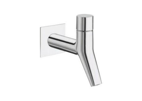 Grifo lavabo mural encaja amplio rubinetto + tapón croma Ru 23351