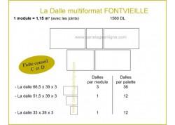 Dalle multiformat en pierre reconstituée FONTVIEILLE ARTEMAT 1560 DL