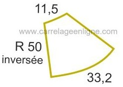 Margelle profil galbé inversée en pierre reconstituée ÉVASION Courbe inversée R50 ARTEMAT 2305 MGCI
