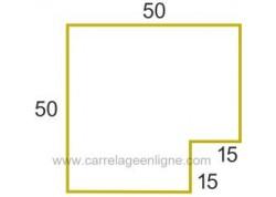 Margelle profil galbé en pierre reconstituée ÉVASION Angle rentrant droit ARTEMAT 2300 MGARD
