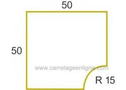Margelle profil galbé en pierre reconstituée ÉVASION Angle rentrant R15 ARTEMAT 2300 MGAR