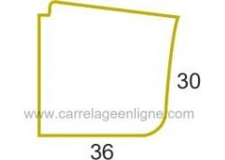 Margelle profil galbé en pierre reconstituée ÉVASION Angle sortant courbe R150 (droit ou gauche) ARTEMAT 2300 MGDC