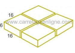 Pavé individuel carré en pierre reconstituée FONTVIEILLE 16 x 16 x 6 ARTEMAT 1665PF