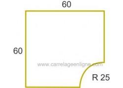 Margelle profil galbé en pierre reconstituée ÉVASION Angle rentrant R25 ARTEMAT 2300 MGARG