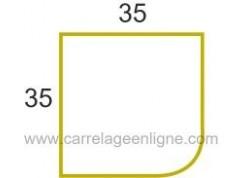 Margelle profil galbé en pierre reconstituée ÉVASION Angle droit 35 x 35 ARTEMAT 2300 MGAS