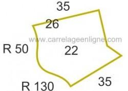 Margelle profil galbé en pierre reconstituée ÉVASION Angle sortant courbe R50/ R130 (droit ou gauche) ARTEMAT 2300 MGBC