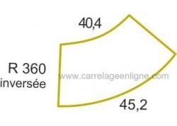 Margelle profil galbé inversée en pierre reconstituée ÉVASION Courbe inversée R360 ARTEMAT 2307 MGCI