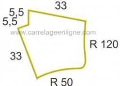 Margelle profil galbé en pierre reconstituée FONTVIEILLE Angle sortant courbe R120/R50 ARTEMAT 2900 MGAA