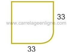 Margelle profil galbé en pierre reconstituée FONTVIEILLE Angle sortant droit 33 ARTEMAT 2900 MGAS