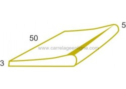 Margelle profil galbé en pierre reconstituée FONTVIEILLE Elément droit 50 x 33 x 3 ARTEMAT 2900 MG