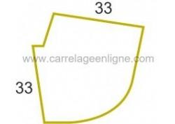 Margelle profil galbé en pierre reconstituée FONTVIEILLE Angle sortant courbe R130 (droit ou gauche) ARTEMAT 2900 MGAD