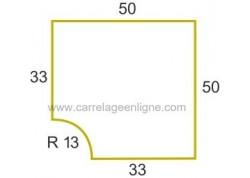 Margelle profil galbé en pierre reconstituée FONTVIEILLE Angle rentrant R13 ARTEMAT 2900 MGAR