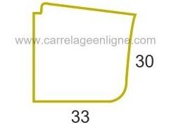 Margelle profil galbé en pierre reconstituée FONTVIEILLE Angle sortant courbe R150 (droit ou gauche) ARTEMAT 2900 MGDC