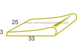 Margelle profil galbé en pierre reconstituée FONTVIEILLE 1/2 margelle droite 25 x 33 x 3 ARTEMAT 2900 MGDM