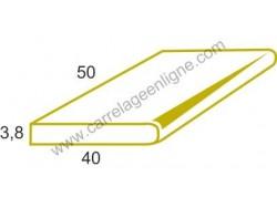 Margelle profil plat ou marche bord arrondi en pierre reconstituée FONTVIEILLE Elément droit 50 x 40 x 3,8 ARTEMAT 2960 MP