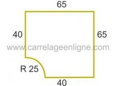 Margelle profil plat ou marche bord arrondi en pierre reconstituée FONTVIEILLE Angle rentrant R25 ARTEMAT 2960 ARSP