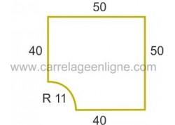 Margelle profil plat ou marche bord arrondi en pierre reconstituée FONTVIEILLE Angle rentrant R11 ARTEMAT 2960 MPAR